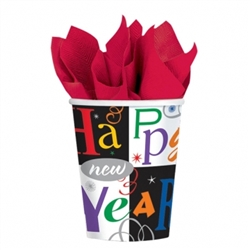 Festive New Year - Jewel Tones Cups, 9 oz. | Party Supplies