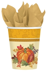 Bountiful Holiday 9 oz. Paper Cups | Party Supplies