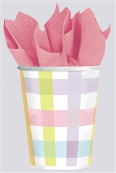 Colorful Gingham Cups | Party Supplies
