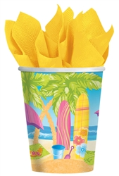 Surf's Up Cups | Luau Party Supplies