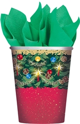 Warmth of Christmas 9oz. Paper Cups | Party Supplies