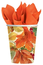Elegant Leaves 9 oz. Paper Cups | Party Supplies