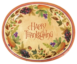 Thanksgiving Medley Oval Paper Platter | Party Supplies