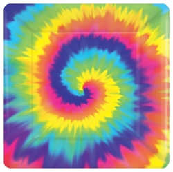 "Feeling Groovy 10"" Square Paper Plates 