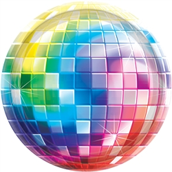 "Disco Fever 10-1/2"" Round Paper Plates 