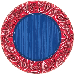 "Bandana & Blue Jeans 10-1/2"" Round Plates 