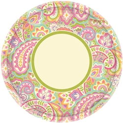 "Pretty Paisley 10"" Round Plates 