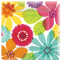 "Day in Paradise 10"" Square Plates 