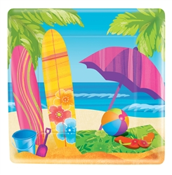 "Surf's Up 10"" Square Plates 