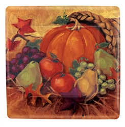 "Harvest Still Life 10"" Square Plates 