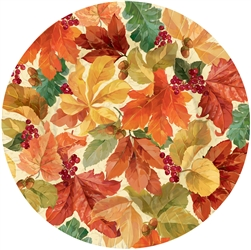 "Elegant Leaves Round 10 1/2"" Plates 