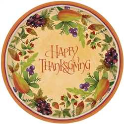 "Thanksgiving Medley Round 10-1/2"" Plates 