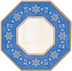 "Judaic Traditions 10"" Paper Octagonal Plates 