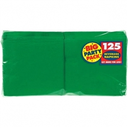 Festive Green 2-Ply Beverage Napkins - 125ct. | Party Supplies