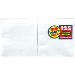 Frosty White Big Party Pack Beverage Napkins | Party Supplies