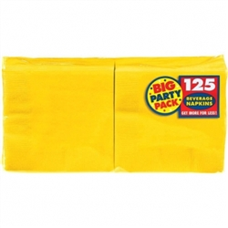 Yellow Sunshine 2-Ply Beverage Napkins - 125ct. | Party Supplies