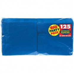 Bright Royal Blue Big Party Pack Beverage Napkins | Party Supplies