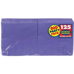 New Purple 2-Ply Beverage Napkins - 125c | Party Supplies