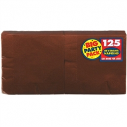 Chocolate Brown Beverage Napkins - 125ct | Party Supplies