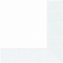 Frosty White 3-Ply Beverage Napkins | Party Supplies
