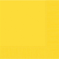 Yellow Sunshine 3-Ply Beverage Napkins - 50ct | Party Supplies