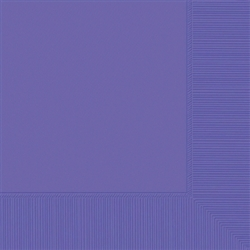 New Purple 3-Ply Beverage Napkins - 50ct | Party Supplies