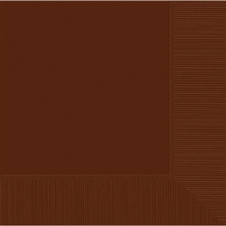Chocolate Brown 3-Ply Beverage Napkins - 50ct. | Party Supplies