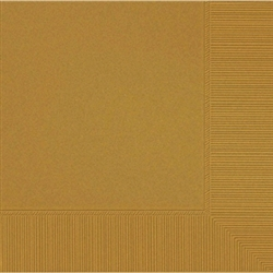 Gold 3-Ply Beverage Napkins - 50ct. | Party Supplies
