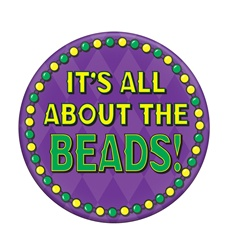 It's All About The Beads Button | Party Supplies