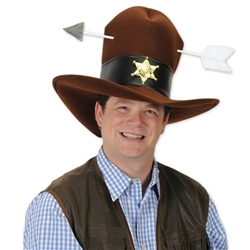 Plush Western Hat with Arrow