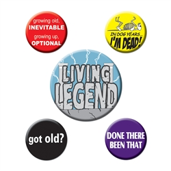 Over-The-Hill Party Buttons