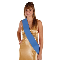 Blue Satin Sash