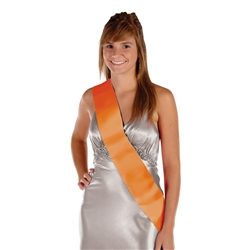 Orange Satin Sash