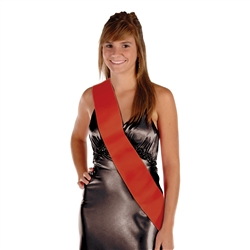 Red Satin Sash