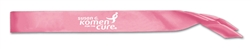 Pink Custom Imprinted Satin Sash