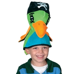 Plush Pirate Parrot Hat
