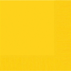 Yellow Sunshine 2-Ply Beverage Napkins - 50ct | Party Supplies