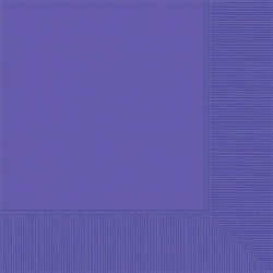 New Purple 2-Ply Beverage Napkins - 50ct | Party Supplies