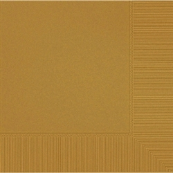 Gold 2-Ply Beverage Napkins - 50ct. | Party Supplies