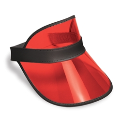 Clear Red Plastic Dealer's Visor