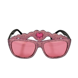 Glittered Princess Crown Fanci-Frame Sunglasses
