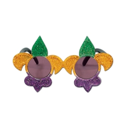 Glittered Mardi Gras Fanci-Frame Sunglasses