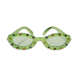 Jeweled Flower Garden Fanci-Frame Sunglasses