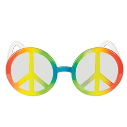 Peace Sign Fanci-Frame Sunglasses