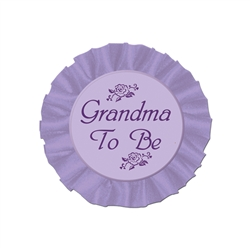 Grandma To Be Satin Button