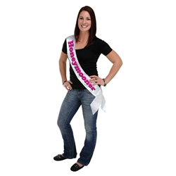 Honeymooner Satin Sash