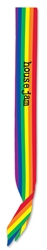 Custom Imprinted Rainbow Satin Sash