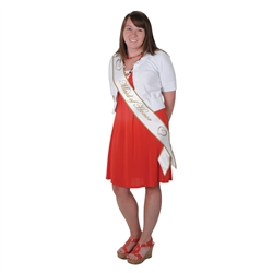 Maid of Honor Satin Sash