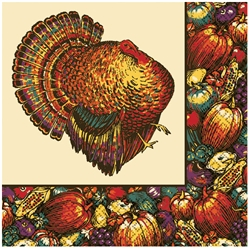 Autumn Turkey Beverage Napkins | Party Supplies
