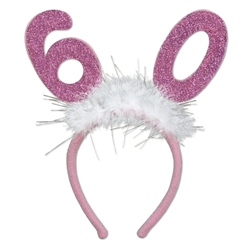 """60"" Glittered Boppers with Marabou"